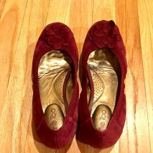 me too Shoes - Me Too suede flats burgundy Size 9